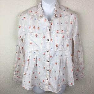 Maeve Anthr Teepee Miette Button Down Shirt